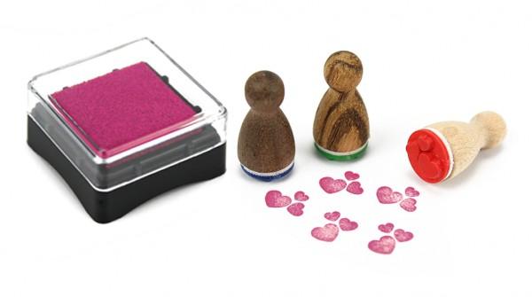 Ministempelkissen - Pink