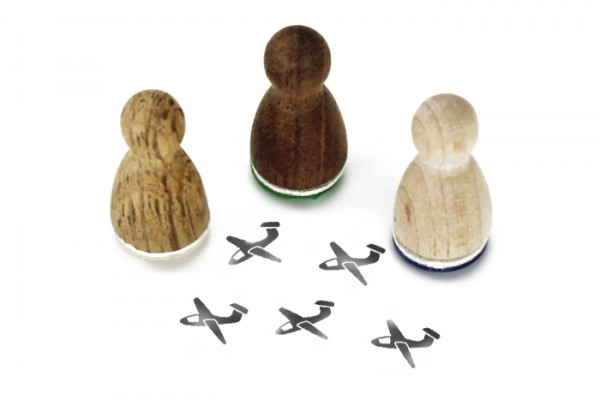 Ministempel Segelflugzeug