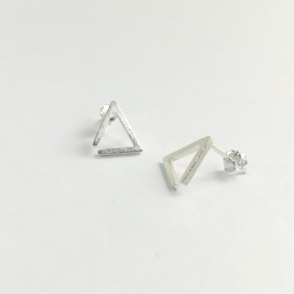 Ohrstecker Dreieck Kontur aus 925 Sterling Silber