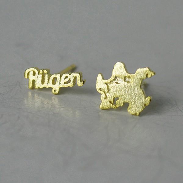 Ohrstecker Rügen SIL gelbgold vergoldet aus 925 Sterling Silber