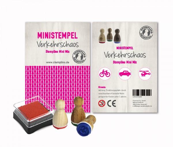 Mini Stempel Stempelset 3er Pack Verkehrschaos