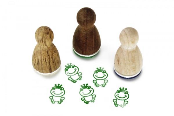 Ministempel Frosch mit Krone