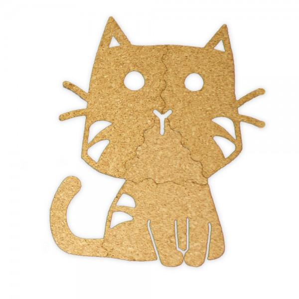 Korkmotiv Katze