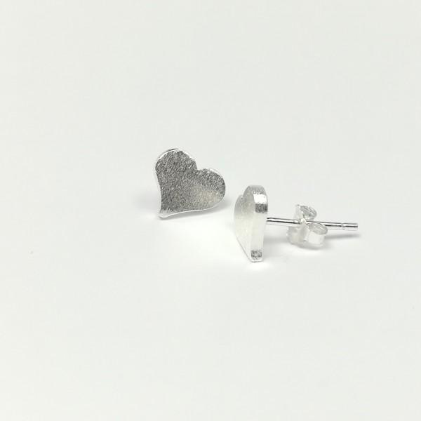 Ohrstecker Herz aus 925 Sterling Silber