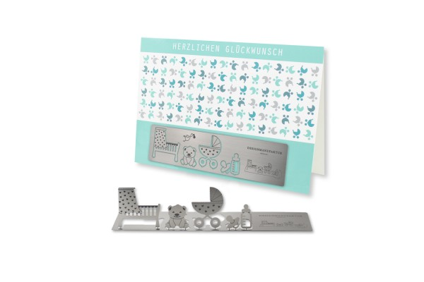 Stainless Steel Greeting Card - Birth II