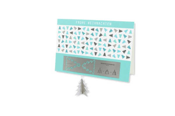 Edelstahl-Grußkarte - Weihnachten