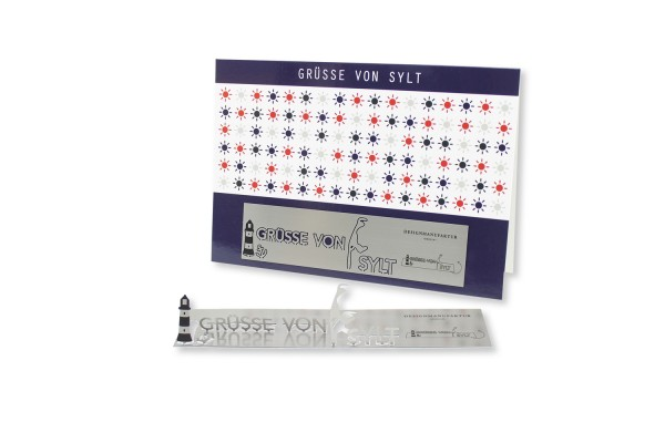Stainless Steel Greeting Card - Greetings from Sylt