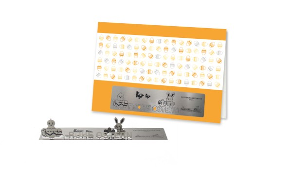 Stainless Steel Greeting Card - Easter