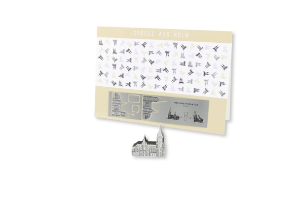 Stainless Steel Greeting Card - Cologne Cathedral