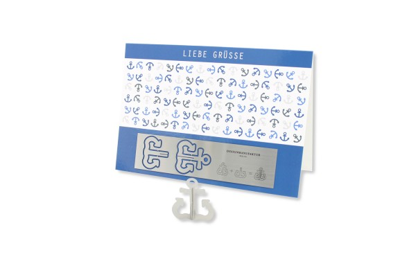 Stainless Steel Greeting Card - Anchor