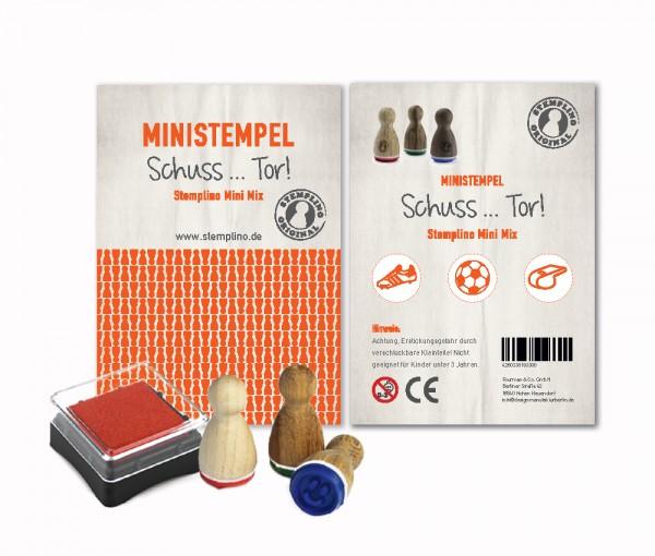 Mini Stempel Stempelset 3er Pack Schuss...Tor