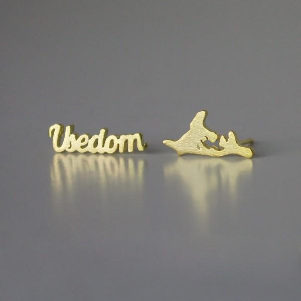Ohrstecker Usedom SIL gelbgold vergoldet aus 925 Sterling Silber
