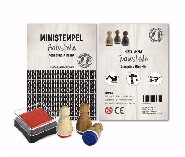 Mini Stempel Stempelset 3er Pack Baustelle