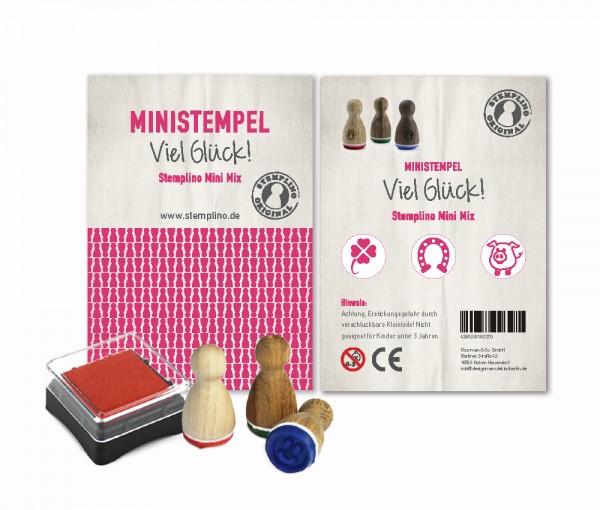 Mini Stempel Stempelset 3er Pack Viel Glück