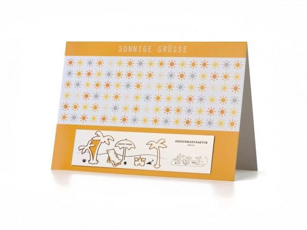 Edelstahl-Grußkarte - sonnige Grüße