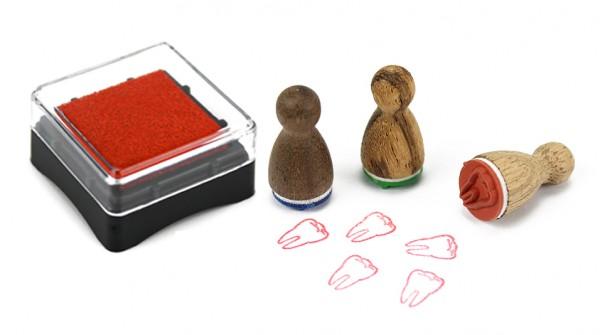 Ministempelkissen - Rot