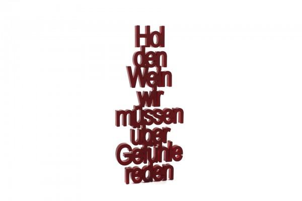 Acryltypo® - Hol den Wein