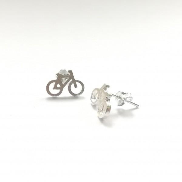 Ohrstecker Fahrrad aus 925 Sterling Silber