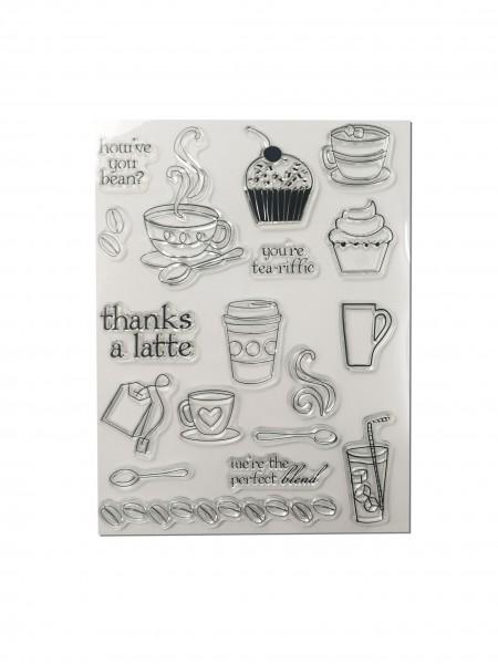 Clear Stamp Set - Kaffee und Tee