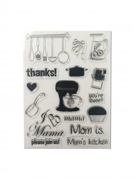 Clear Stamp Set - Mama