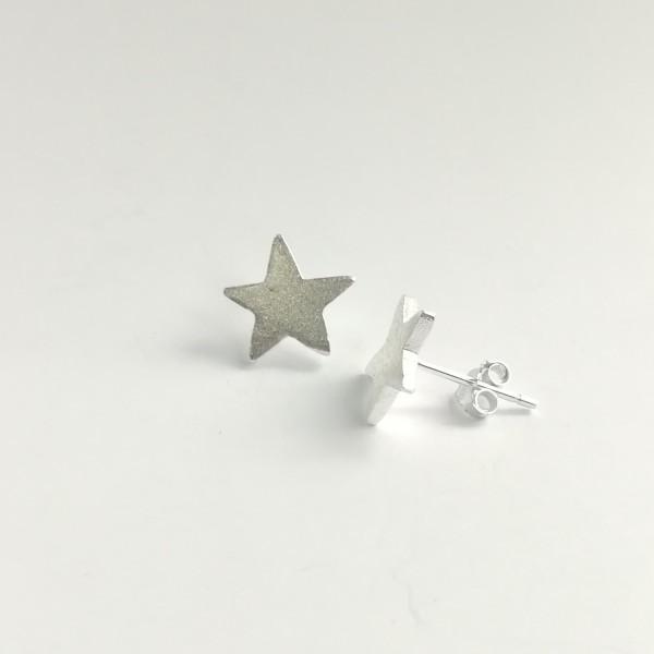Ohrstecker Stern aus 925 Sterling Silber