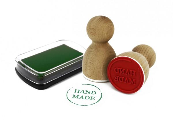 Maxistempelkissen - Grün
