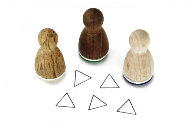 Ministempel Dreieck Kontur