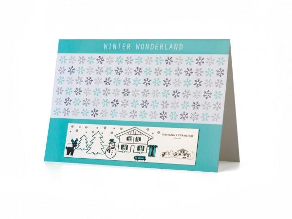 Stainless Steel Greeting Card - Winter Wonderland