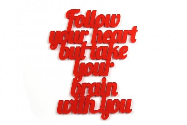 Acryltypo® - Follow your heart