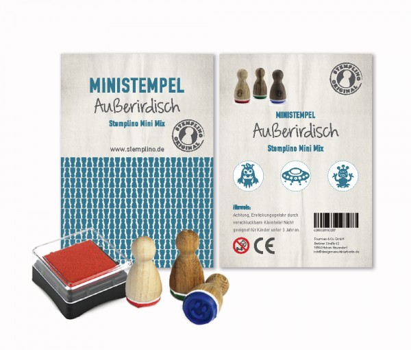 Mini Stempel Stempelset 3er Pack Außerirdisch