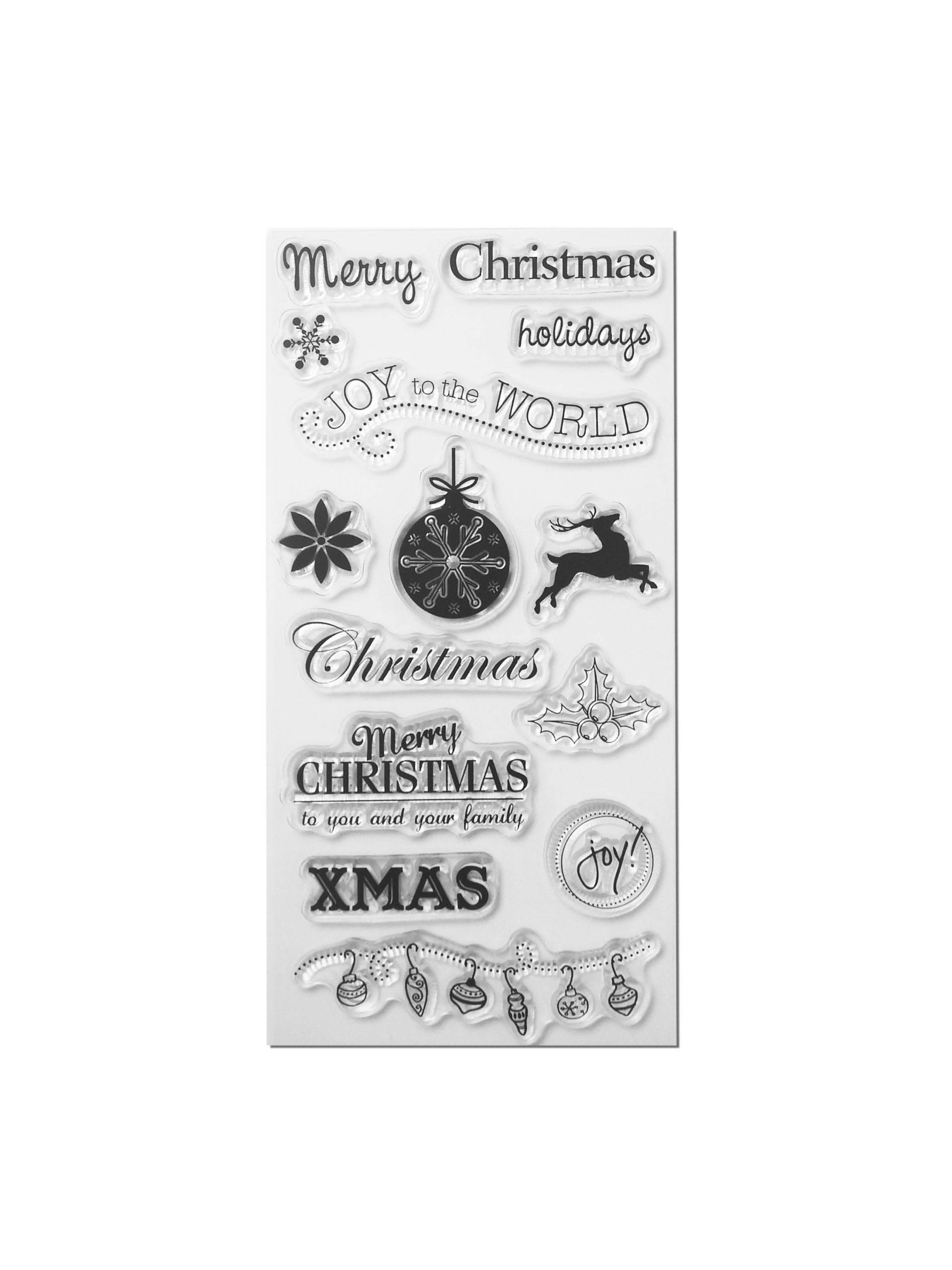 Clear Stamp Set - Merry Christmas I | Designmanufaktur Berlin