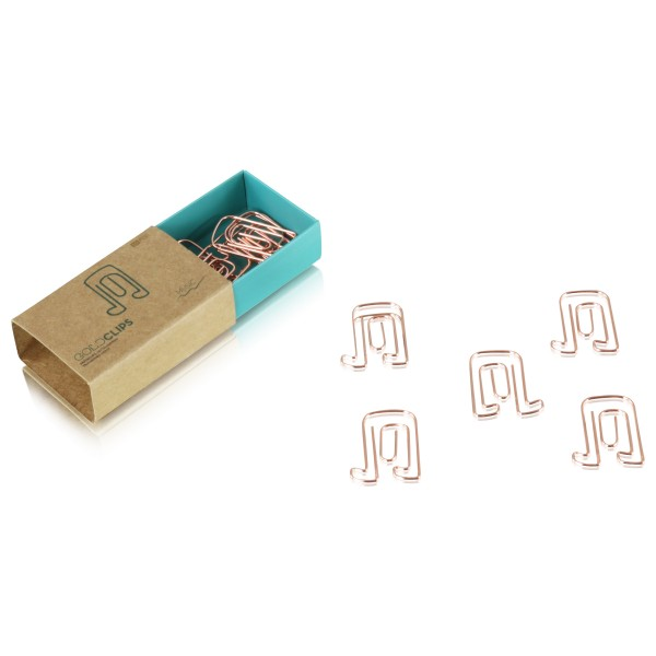 GOLDCLIP Büroklammern Note in roségold - Heftklammern mit Verpackung (Inh. 15 Stück)