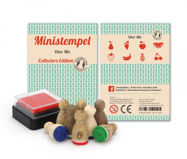 Ministempel Obst - Mix