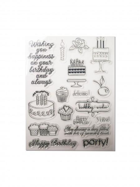 Clear Stamp Set - Geburtstag Englisch