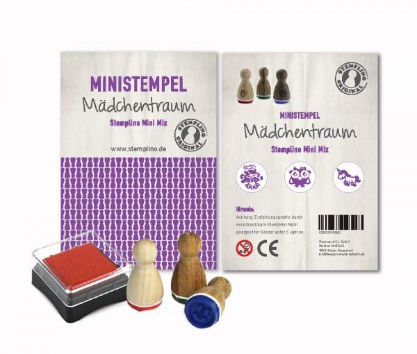 Mini Stempel Stempelset 3er Pack Mädchentraum