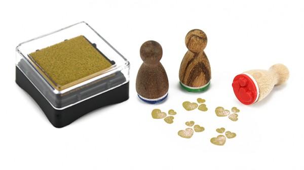 Ministempelkissen - Gold