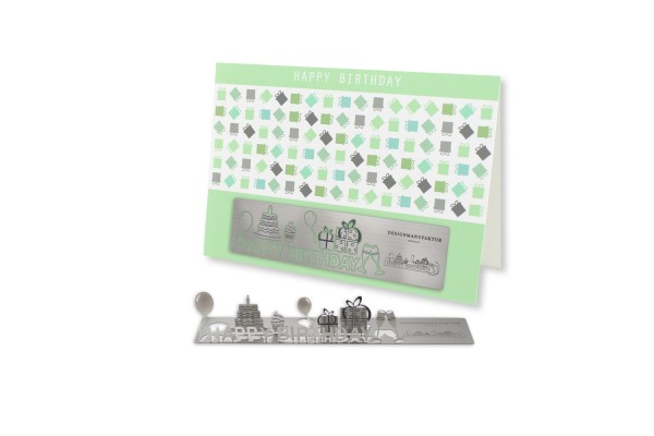 Stainless Steel Greeting Card - Birthday I
