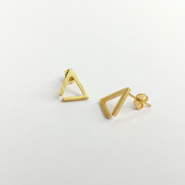 Ohrstecker Dreieck Kontur gelbgold vergoldet aus 925 Sterling Silber