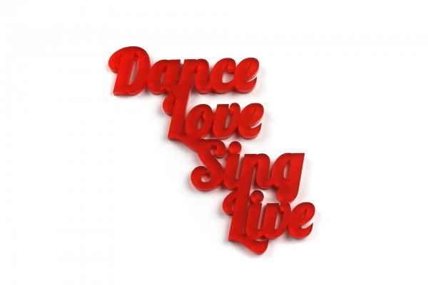 Acryltypo® - Dance, Love...