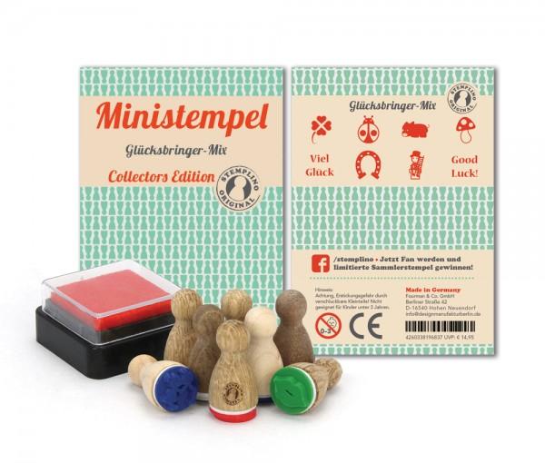Ministempel Glücksbringer - Mix