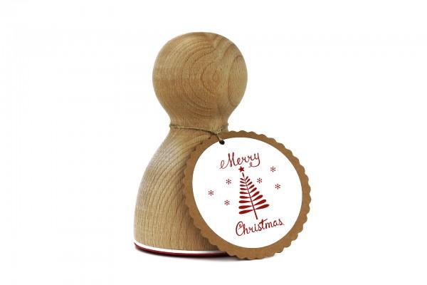 Maxistempel 3XL - Merry Christmas Tree
