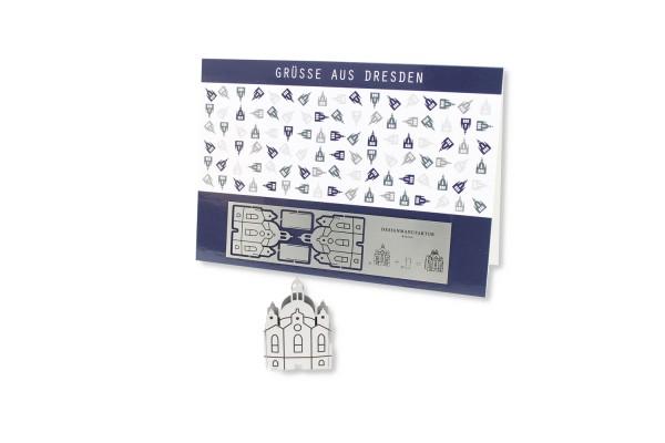 Stainless Steel Greeting Card - Dresden Frauenkirche