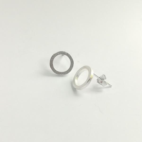 Ohrstecker Kreis Kontur aus 925 Sterling Silber