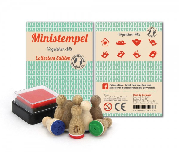Ministempel Vögelchen - Mix