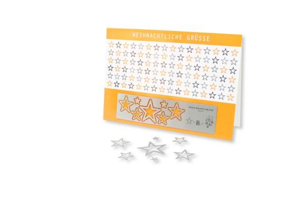 Stainless Steel Greeting - Stars
