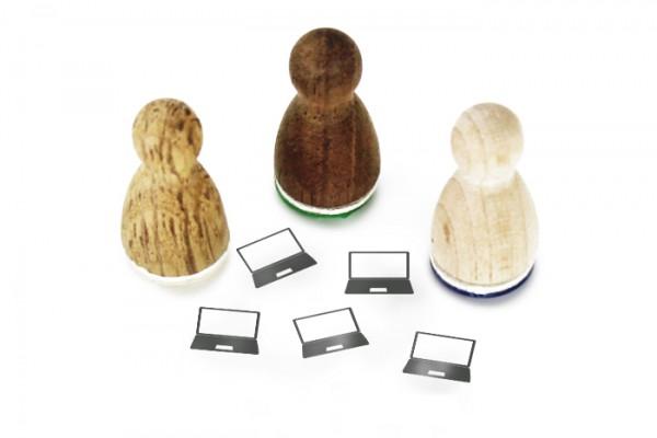 Ministempel Laptop