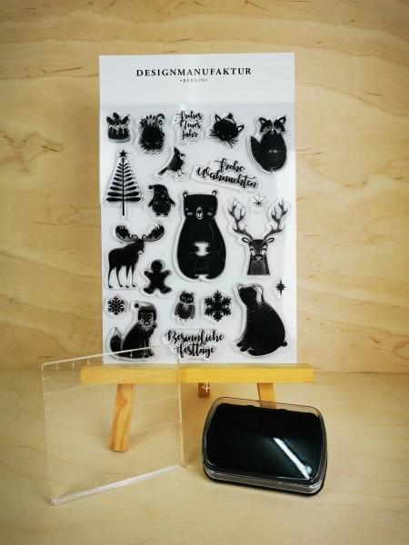 Clear Stamp Set - Tierische Weihnachten