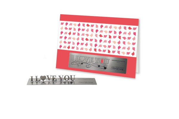 Stainless Steel Greeting Card - Valentine's Day