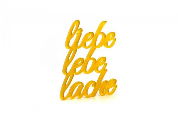 Acryltypo® - Liebe lebe lache