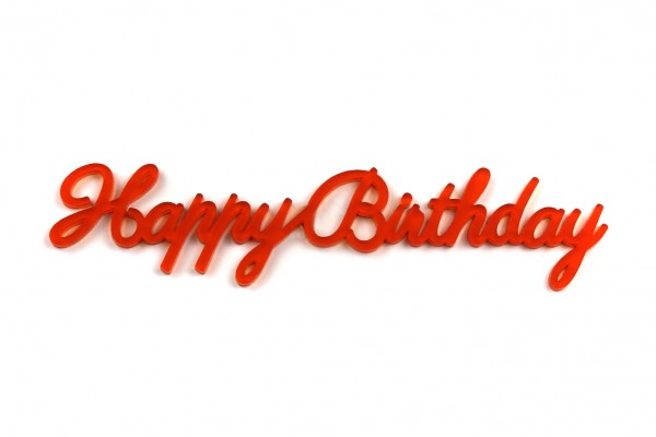 Acryltypo® - Happy Birthday
